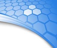 Blauwe abstracte achtergrond met cellen royalty-vrije illustratie