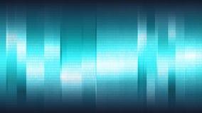 Blauwe abstracte achtergrond met verticale glanzende strepen en digitale binaire serie, naadloze lijn stock illustratie