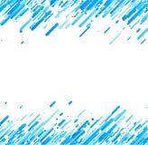 Blauwe abstracte achtergrond op wit Stock Afbeelding