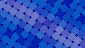 Blauwe abstracte achtergrond, vierkanten, lijn stock video
