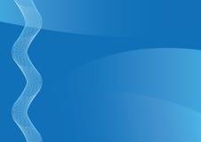 Blauwe abstracte achtergrond voor de presentatie stock fotografie