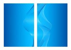 Blauwe abstracte achtergrond, voorzijde en rug Royalty-vrije Stock Foto