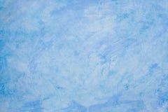 Blauwe Abstracte AcrylAchtergrond Royalty-vrije Stock Foto