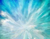 Blauwe abstracte artistieke achtergrond Stock Fotografie