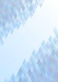 Blauwe abstracte banner Stock Foto's