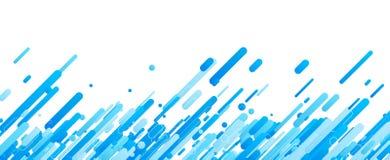 Blauwe abstracte banner op wit Royalty-vrije Stock Foto's
