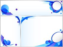 Blauwe abstracte bedrijfsreeks Stock Afbeelding