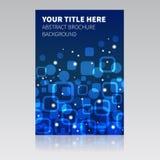 Blauwe abstracte brochureachtergrond Stock Afbeeldingen