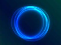 Blauwe abstracte cirkel Royalty-vrije Stock Afbeeldingen