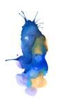 Blauwe abstracte cirkel op de witte achtergrond Stock Foto's