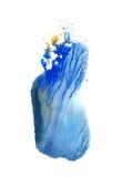 Blauwe abstracte cirkel op de witte achtergrond Royalty-vrije Stock Foto's