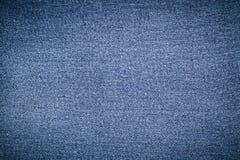 Blauwe abstracte denimoppervlakte voor de achtergrond Stock Foto