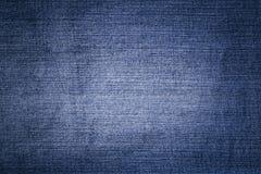 Blauwe abstracte denimoppervlakte voor de achtergrond Royalty-vrije Stock Foto's