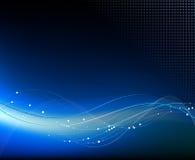 Blauwe abstracte fantasieachtergrond Stock Foto