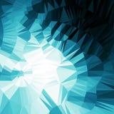 Blauwe abstracte geometrische achtergrond Royalty-vrije Stock Foto's
