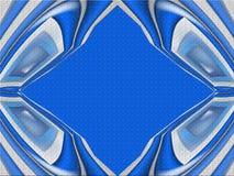 Blauwe abstracte geweven achtergrond Stock Fotografie