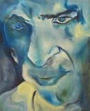 Blauwe abstracte gezichtsillustratie vector illustratie
