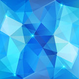 Blauwe abstracte glanzende ijs vectorachtergrond Stock Foto