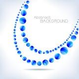 Blauwe abstracte golf Royalty-vrije Stock Foto's
