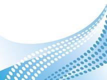 Blauwe abstracte golven Stock Fotografie