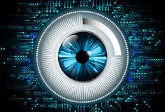 Blauwe abstracte hallo de technologie van snelheidsinternet illustratie als achtergrond Stock Afbeelding