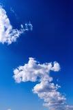 Blauwe Abstracte Hemel Stock Foto