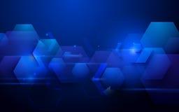 Blauwe abstracte het conceptenachtergrond van technologie digitale hallo technologie Royalty-vrije Stock Foto