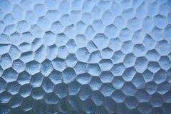 Blauwe abstracte het vleesachtergrond van de glastextuur. Stock Foto's