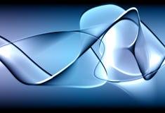 Blauwe abstracte illustratie Royalty-vrije Stock Afbeelding