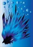 Blauwe abstracte installatie Stock Foto