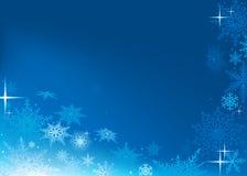 Blauwe Abstracte Kerstmisachtergrond Stock Foto's