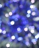 Blauwe abstracte Kerstmisachtergrond Stock Afbeelding