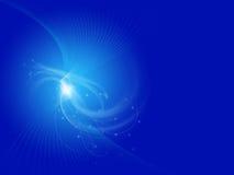 Blauwe abstracte krommen op blauwe achtergrond Stock Foto