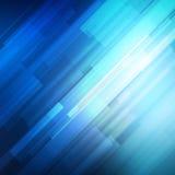 Blauwe abstracte lijnen bedrijfs vectorachtergrond Stock Afbeeldingen