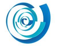 Blauwe abstracte meetkunde Stock Foto's