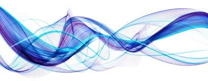 Blauwe abstracte moderne golvende achtergrond Stock Fotografie
