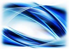 Blauwe abstracte motie, stromende energie Royalty-vrije Stock Afbeeldingen