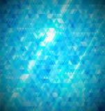 Blauwe abstracte mozaïekachtergrond. royalty-vrije illustratie