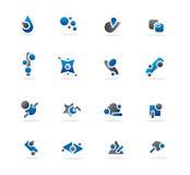 Blauwe Abstracte Ontwerpen Royalty-vrije Stock Foto