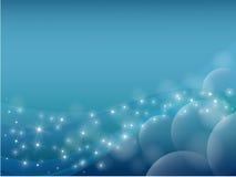 Blauwe abstracte planeet en ster als achtergrond vector illustratie