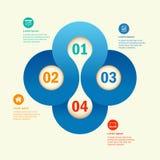 Blauwe abstracte ronde genummerde banner met tekstruimte Stock Foto