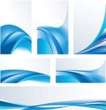 Blauwe abstracte samenstellingen Royalty-vrije Stock Foto's