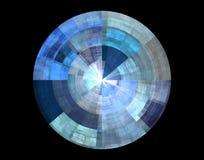 Blauwe abstracte schijf Stock Afbeelding