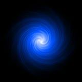 Blauwe abstracte spiraal als achtergrond Royalty-vrije Stock Fotografie