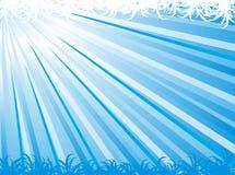 Blauwe abstracte straal vectorachtergrond Royalty-vrije Stock Foto's