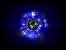 Blauwe abstracte technologie digitale achtergrond Stock Afbeeldingen