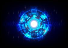 Blauwe abstracte technologieachtergrond Royalty-vrije Stock Afbeeldingen