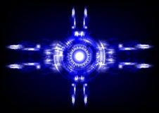 Blauwe abstracte technologieachtergrond Stock Foto