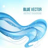 Blauwe abstracte vectorachtergrond Stock Fotografie