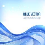 Blauwe abstracte vectorachtergrond Royalty-vrije Stock Afbeeldingen